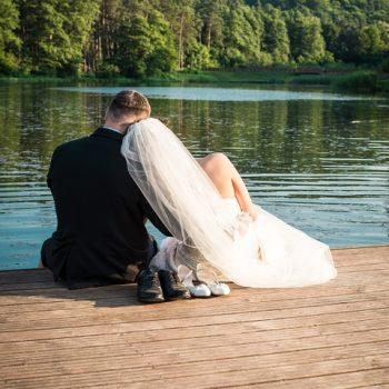 huwelijksaanzoek bruidspaar