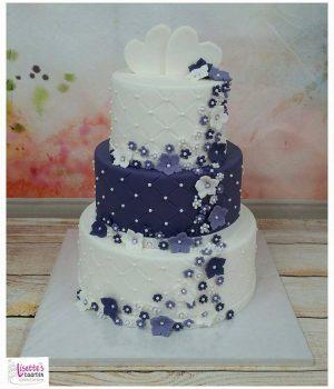 Bruidstaart Lisette paars