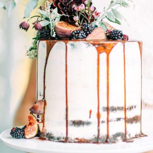 bruidstaart drip cake oranje