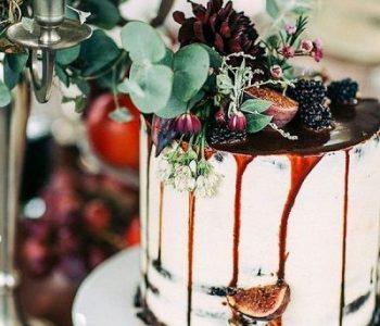 herfstbruiloft bruidstaart